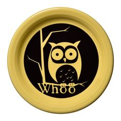 Fiesta Whoo Owl Appetizer Plate, Yellow