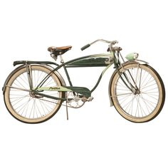 1stdibs | Early 1950's Original Schwinn Panther Bicycle w/Delta Rocket Ray Headlight