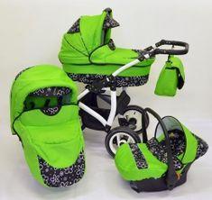 Houpací kočárek ELFan klasik 3v1 s autosedačkou - zelená s kytičkami Baby Strollers, Children, Baby Prams, Young Children, Boys, Kids, Prams, Strollers, Child