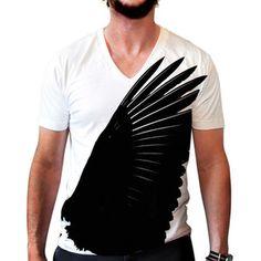 T-Shirt Aile Noir