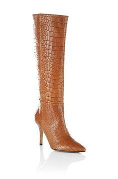 Laarzen ´Curtney` met krokodillenprint door BOSS Black