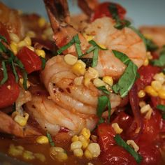 Michael Symon's Shrimp with Corn and Basil recipe. #thechew