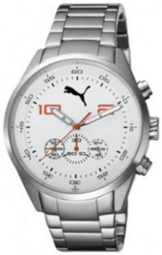 216b06b95f1 Relógio Puma Unisex PU102451004 Silver Stainless-Steel Quartz Watch with  White Dial  Relogio