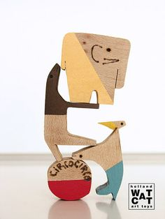 Watermelon Cat handmade Wooden Toys and Blocks from the Netherlands. See more at SmallforBig.com #kids #wood #toys