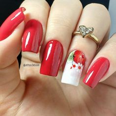 Image may contain: one or more people and closeup Polygel Nails, Love Nails, Red Nails, Pretty Nails, Hair And Nails, Manicure, Creative Nail Designs, Colorful Nail Designs, Creative Nails