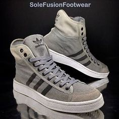 100% authentic d52b0 4cdff adidas Originals Mens Over Dye Trainers GreyBlack size 8 Mid Sneakers US 42