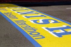 Boston Marathon finish line...can't wait to see this baby!!