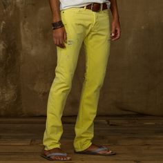 Slim Fit Colored Jean - Lyst