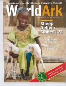 Give the gift of the World Ark ($5000) to Heifer International: gives a set of every animal they give out to help end poverty around the world in sustainable and  environmental ways.
