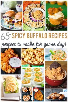 With the Big Game right around the corner I have a deliciously spicy collection of 65 Buffalo Recipes Perfect for Game Day to share today. From tangy appetizers and peppery snacks to flavorful entrees Best Appetizer Recipes, Tailgating Recipes, Best Appetizers, Game Recipes, Barbecue Recipes, Barbecue Sauce, Egg Recipes, Grilling Recipes, Sweet Recipes