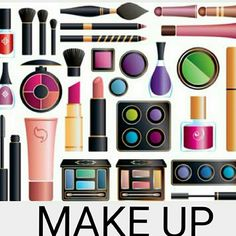 Make Up Various brands of eye shadow, brow, lipsticks and contour pallets.  Everything to enhance one's beauty. Makeup