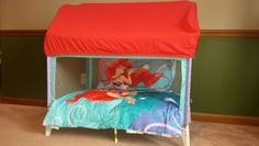 Repurposed playpen, turn into toddler bed or reading nook