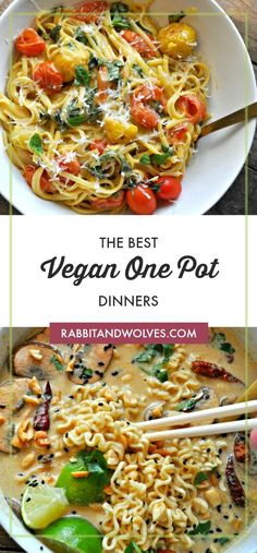 The Best Vegan One Pot Dinners is part of The Best Vegan One Pot Dinners Rabbit And Wolves - We put together our favorites, and the best vegan one pot dinners to make your life incredibly easy and incredibly tasty! Easy Vegan Dinner, Vegan Dinner Recipes, Vegan Dinners, Vegetarian Recipes, Healthy Recipes, Seitan Recipes, One Pot Dinners, Easy Dinners, Weeknight Dinners