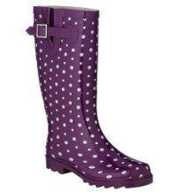 Ditsy Dots Purple Rain Boots @Target $15.74