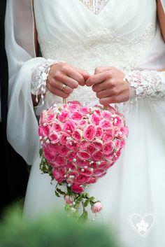 Bouquet sac coeur