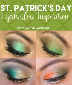 St. Patrick's Day Green Eyeshadow Inspiration