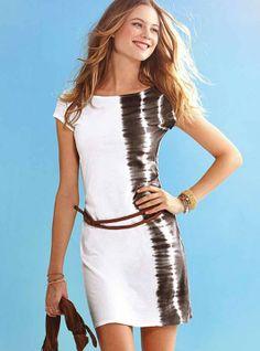 Wit strandjurkje, luchtig jurkje met riem