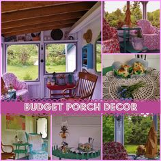 When my husband and I moved into our home a little over a year ago I knew I wouldn't be happy until I had turned out screened in porch into a haven where we cou…