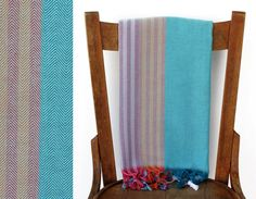 Turkish Beach Towel WAVE PESHTEMAL Handwoven Cotton Towel Turkish Fouta
