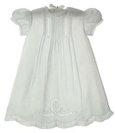 NEW Feltman Brothers Mid-Length Christening Gown with Pintucks and Lace Insertion $95.00