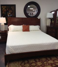 King Sz. Bed - Platform Wooden King sz. Bed - $599.95