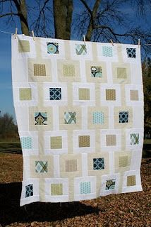What a pretty charm pack quilt! We love the greens and blues.