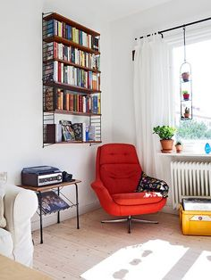 Sweet chair and bookshelf