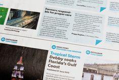 USAToday new newspaper design via Brand New