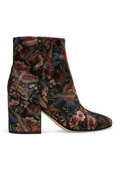 Sam Edelman - Taye Jacquard Ankle Boots - Black - US8.5