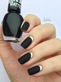 Matte and chrome mani