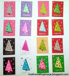 MaLiNowe Inspiracje: Tutorial: Jak zrobić 15 prostych kartek świątecznych