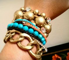 Stack color and metal! The more the better...love this