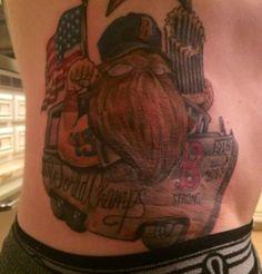 jonny gomes tattoo   Jonny Gomes gets World Series tattoo, complete with beard, on his hip ...