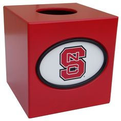 North Carolina State Wolfpack Tissue Box Cover, Multicolor