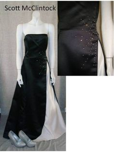 This black and white Scott McClintock gives added sparkle along the waistline.