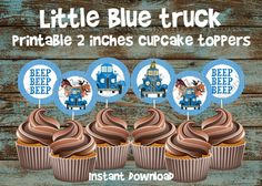 Little blue truck birthday party food kids 29 Ideas for 2019 Truck Cupcakes, Blue Cupcakes, Birthday Cupcakes, 2nd Birthday Parties, Birthday Party Invitations, Birthday Ideas, Wedding Cupcakes, Birthday Decorations, Birthday Wishes