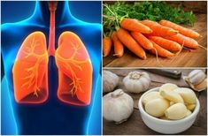 7 foods that improve lung health Blueberry Juice, Eating Carrots, Health Eating, Eating Raw, Smoothies Detox, Carrot Cream, Raw Garlic, Health Foods, Detox Smoothies