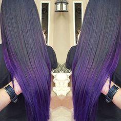 P E R F E C T  P L U M  @fonsiedoeshair amazes us again with this gorgeous purple ombré! ✨ #SparksColor #PurplePassion #PurpleHair #PurpleOmbre #FonsieDoesHair #UnicornTribe #mermaidians @mermaidians