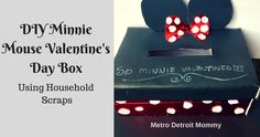 Recreate this Minnie Mouse Valentine's Day Card Box using Household Scraps
