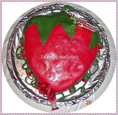 Χιώτικες Διαδρομές: ΤΟΥΡΤΑ ΦΡΑΟΥΛΙΤΣΑ Girl Birthday, Birthday Cake, Watermelon, Strawberry, Cakes, Fruit, Create, Food, Birthday Cakes