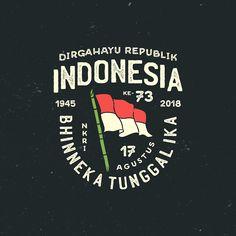 249/365. Dirgahayu Republik Indonesia! Selamat Hari Ulang Tahun Ke - 73 Republik Indonesiaku! MERDEKA!! Inget berjuang untuk diri sendiri… Typography Logo, Logo Branding, Branding Design, Design Kaos, Badge Design, Cool Logo, Logo Design Inspiration, Design Reference, Graphic Design Illustration
