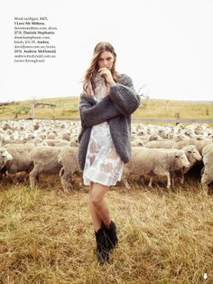 """""""Country Strong"""" Gertrud Hegelund by Stefania Paparelli for ELLE Australia April 2014"""