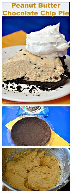 Peanut Butter Chocolate Chip Pie