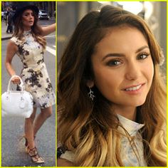 Nina Dobrev is Spring Chic at Air Optix Color Brand Launch! | Nina ...