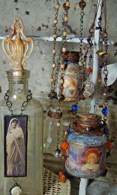 A Textured Life - I enjoy looking at bottle art!