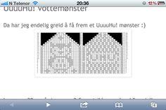 Uglemønster vott Coding, Knitting, Art, Art Background, Tricot, Breien, Kunst, Weaving, Stricken