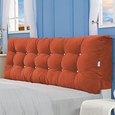 GGCG Bedside cushion, headboard pad linen art soft bag double bed back sofa, 7 colors, 4 sizes (Color : 7 Size : With Bed Headboard Design, Diy Tufted Headboard, Vintage Home Decor, Diy Home Decor, Home Decor Kitchen, Pit Couch, Bed Backrest, Cool Headboards, Deep Sofa