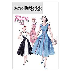 Butterick Patterns B4790 Size FF 16-18-20-22 Misses Wrap Dress, Pack of 1, White