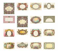 Etiquetas para imprimir personalizables Vintage