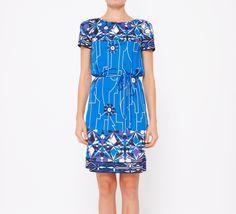 Emilio Pucci Blue, White And Black Dress